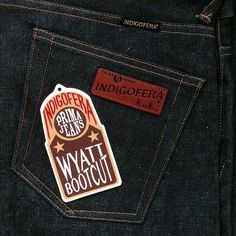 Indigofera Wyatt Jeans. Broken Twill, Bootcut. (made in portugal, wear well)