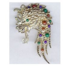 "Vintage ""Fire Breathing"" Dragon Figural Brooch - CORO Excellent!"