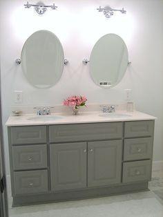 Gorgeous gray vanity.