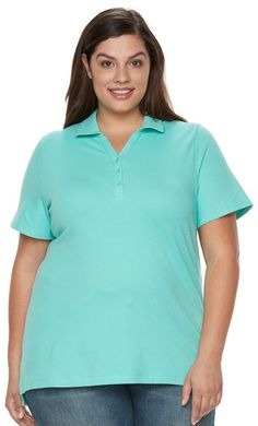 Croft & Barrow Plus Size Pique Polo