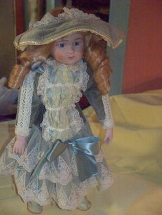 Artisan Porcelain doll, some yellowing, no major damage to the doll Porcelain Dolls For Sale, The Ordinary, Vibrant, Artisan, Victorian, Shopping, Collection, Fashion, Moda