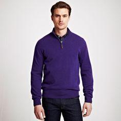 wickham zip jumper Purple/Purple from Thomas Pink on shop.CatalogSpree.com, your personal digital mall.