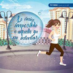 Solo tú te pones los límites. ¿Qué te gustaría hacer hoy? #NestleEcuador #agustoconlavida