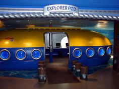 Submarine Idea. The main double doors leading to the Worship Center in the lobby.