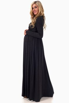 ​Stock up on warm essentials as we move toward fall and winter. This cowl neck long sleeve maternity maxi dress will give the a comfortable, stylish look you want day or night while saving you from the cool, crisp air thanks to its long sleeves. Maternity Ball Dresses, Long Sleeve Maternity Dress, Cute Maternity Outfits, Maternity Maxi, Pink Blush Maternity, Mom Outfits, Maternity Fashion, Maternity Style, Pregnancy Wardrobe