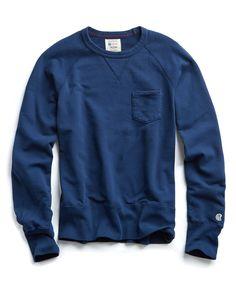 81eb17ec0c3c Todd Snyder Pocket Sweatshirt In Marine Blue - XS