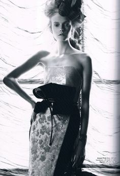 "Nimue Smit in ""Lady Of The House"" by Victor Demarchelier for Harper's Bazaar Australia December 2011"