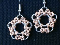 Chainmail earrings, from SilentThunder on mailleartisans.org