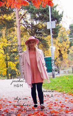 pink felt hat sweater scarf nordic helsinki finland slip-on sneakers
