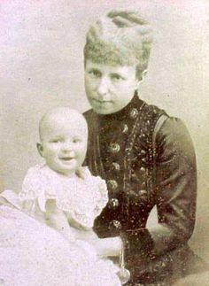 Queen Maria Christina with her only son King Alfonso XIII of Spain