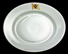 Imperial plate from the yacht Standart.