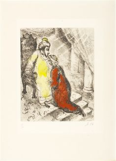 """""""David et Absalon"""" by Marc Chagall - Park West Gallery"""