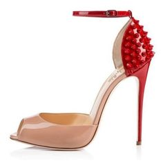 Rivets Decoration Peep Toe High Heel Women s Dress Pumps Stiletto Sandals  Natural Color Size 34 74027b8c093d