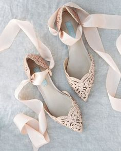 We feel you, ladies. Not everyone can walk in heels for hours. If you're one of those who are into comfort yet still want to be glammed to your toes, wear something like this pair. The sweet, sweet details will surely fit even the most intricately designed wedding gown. : Style Me Pretty #evedeso #eventdesignsource - posted by Merry To Marry https://www.instagram.com/merrytomarry. See more Event Designs at http://Evedeso.com