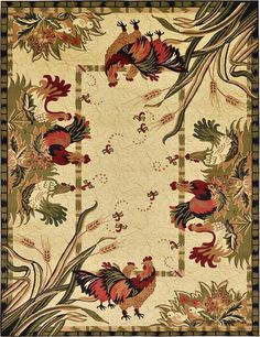 Cream Country Area Rug
