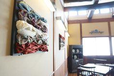 布を壁に 3