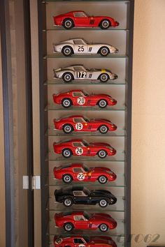 F1 Model Cars, Toy Cars For Kids, Custom Hot Wheels, Bike Shed, Garage Art, Automotive Decor, Garage Design, Home Interior Design, Diorama