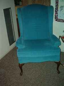 nice blue wingback chair - $25 (gardner)