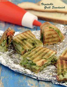 Ideas Breakfast Sandwich Ideas Dinners For 2019 Grill Sandwich, Grilled Sandwich Recipe, Potato Sandwich, Vegetable Sandwich Recipes, Vegetable Recipes, Vegetarian Recipes, Cooking Recipes, Bread Recipes, Indian Snacks
