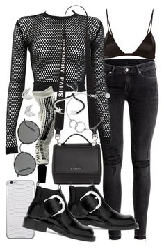 """Untitled #21125"" by florencia95 ❤ liked on Polyvore featuring H&M, PAM, Givenchy, Aesop, Ray-Ban, Chupi, Monica Vinader, FOSSIL, Jamie Clawson and Fleur du Mal"