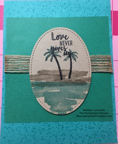 """By Madelyn Lombardo. Uses """"Waterfront"""" stamp set by Stampin' Up."""