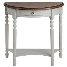Lyon Grey Half Circle Console Table