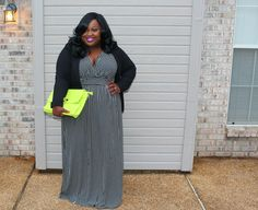 Plus Size Fashion - Style 4 Curves --For the Curvy Confident Woman: Spring Essential: The Striped Maxi