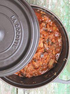 Riste d'aubergine - Un confit d'aubergines et de tomates à l'huile d'olive et à l'ail