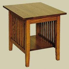 Redux Antique Hardwood End Tables - Heritage Mission Rectangular End Table. Caringly hand-built & hand-finished by Mennonite & Amish craftsmen. Available in premium Oak, Maple, or Cherry hardwoods. Full range of durable finish colors. Find the Heritage Mission Rectangular End Table at http://www.mennonite-furniture-studios.com/Amish-Heritage-Mission-Rectangular-End-Table-(With-Shelf)/