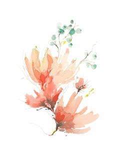 Blush Blossoms by Kelly Ventura for Minted $24 depending on size, could go with either of the two recently pinned