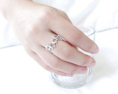 Gold/ Silver/ Pinkgold Linked Stars Ring by bkandjio on Etsy, $13.00 LOVE THIS!!! :)