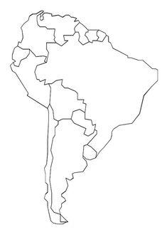 kleurplaat Landkaart Zuid Amerika Kids-n-Fun