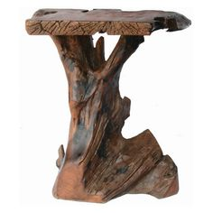 Classic Style Solid Rustic Tree Trunk Coffee Table Design