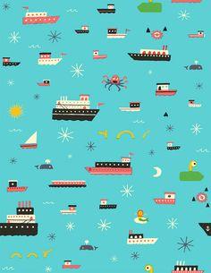 Strange Seas repeat pattern (details) | Greg Pizzoli