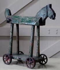 Wonderful folk art wooden horse.