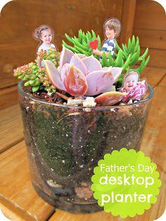 homemade by jill: father's day idea: desktop planter