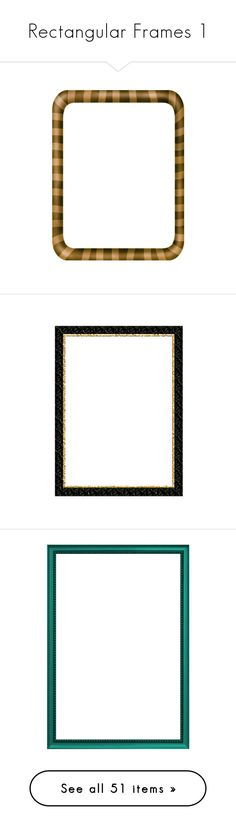 """Rectangular Frames 1"" by dorofromks ❤ liked on Polyvore featuring frames, borders, fillers, backgrounds, frames and borders, picture frames, home, home decor, picture frame and frames & borders"