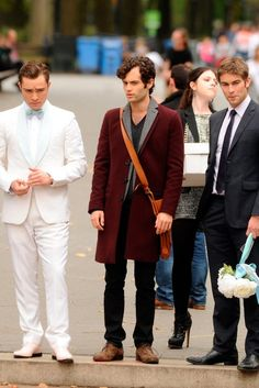 """the boys getting ready for Chuck and Blair's wedding in the episode """"New York, I Love You XOXO""""......"""