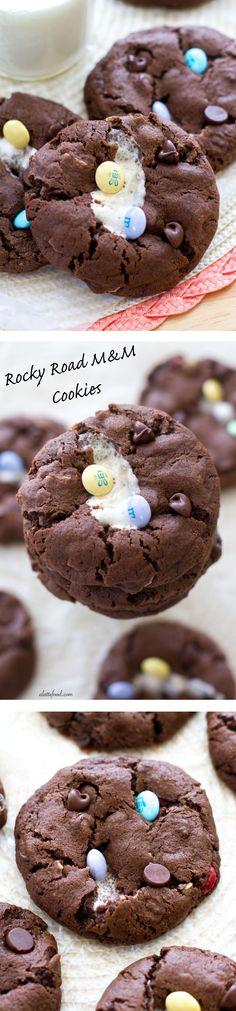 Rocky Road M&M Cookies | A Latte Food