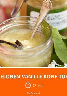 Melonen-Vanille-Konfitüre - Marmelade aus Honigmelone? Ausprobieren! Eat Smarter, Dips, Fruit, Ethnic Recipes, Desserts, Food, Spreads, Sweet, Vanilla