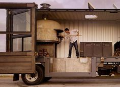 Mobile Pizzeria in a Shipping Container Home Improvement Interactive, Happening & Street Art Mechanic & Friends Recycling Metal