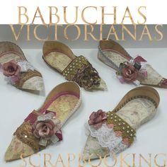 taller febrero/marzo 2014 babuchas victorianas scrapbooking