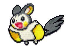 Emolga Pokemon perler bead sprite