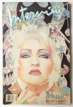 Andy Warhol's Interview Magazine April 1986 vol.XVI no.4: Music Cyndi Lauper #AndyWarhol