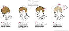how i do my hairstyle - ala trump Donald Trump Costume, Donald Trump Hair, Dramatic Hair, Hair Secrets, Reportage Photo, Hair Loss Remedies, Comb Over, Smiles And Laughs