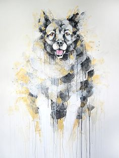 """Eddie the Norwegian Elkhound"" painting by Michael Cain- Gnashing Teeth (gnashingteeth)"