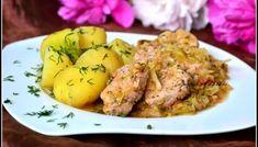 Polędwiczki w młodej kapuście Potato Salad, Good Food, Potatoes, Dishes, Cooking, Ethnic Recipes, Polish, Polish Cuisine, Kitchen