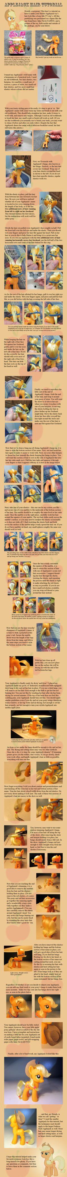 Applejack Hair Tutorial by countschlick.deviantart.com