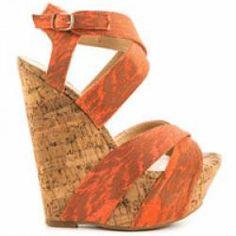 justfab orange wedges worn once size 7 Orange Wedges, Orange Heels, Prom Heels, Just Fab Shoes, Trends, Shoe Brands, Jimmy Choo, Summer, How To Wear
