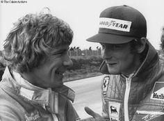 Niki Lauda and James Hunt